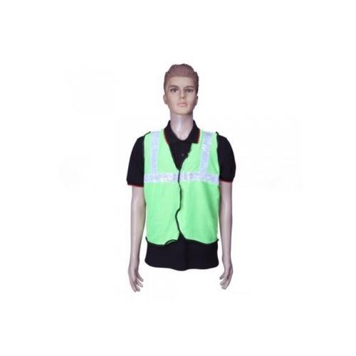 Safari Reflective Safety Jacket 2 Inch Lycra, Green, 60 GSM