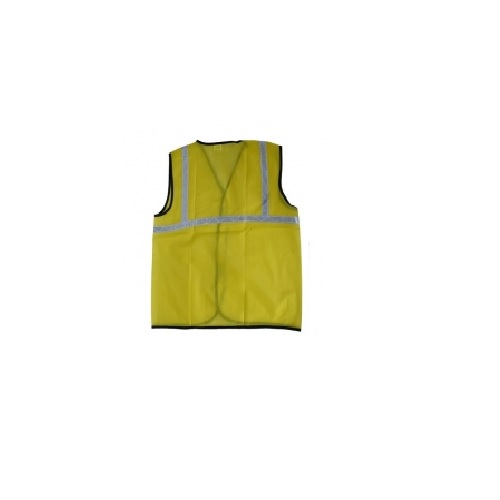 Safari Reflective Safety Jacket 1 Inch Cloth, Yellow, 60 GSM