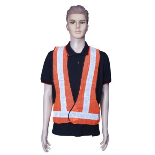 Safari Reflective Safety Jacket 2 Inch Net, Orange, LNT Type, 60 GSM