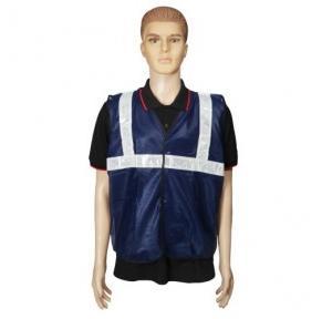 Safari Reflective Safety Jacket 2 Inch Cloth, Blue, 60 GSM