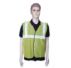 Safari Reflective Safety Jacket 2 Inch Net, Yellow, 60 GSM