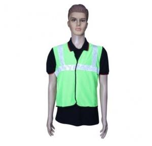 Safari Reflective Safety Jacket 2 Inch Cloth, Green, 60 GSM