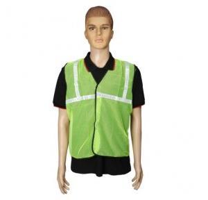 Safari Reflective Safety Jacket 1 Inch Cloth, Green, 60 GSM