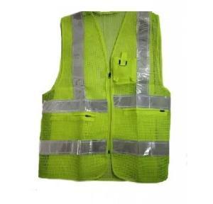 Safari Pro Green 2 Inch Reflective Safety Jacket, Mesh Type