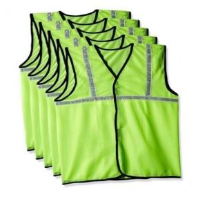 Safari Pro Green 1 Inch Reflective Safety Jacket, Fabric Type