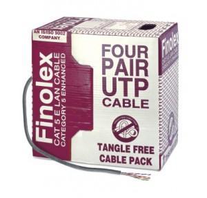 Finolex UTP 4 Pair Cat 5 Enhanced LAN Cable, 305 Mtr