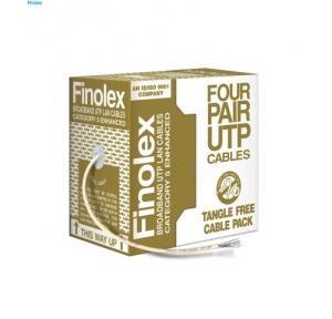 Finolex 0.5x4 Pair UTP Cat-5 (E) CCA LAN Cable, 305 Mtr