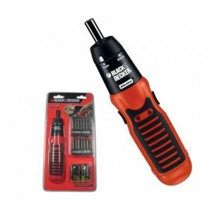 Black & Decker A7073 Alkaline Screwdriver, 6 V, 130 rpm