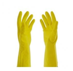 Yellow Rubber Gloves, Pack of 5