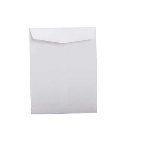 White Envelope Cloth 12x10 Inch, 120 GSM (Pack of 50 Pcs Pcs)