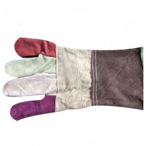 Leather Multicolor Gloves, Size: 12 Inch