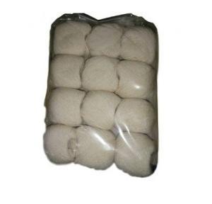 Cotton Dhaga White, 12 Pcs