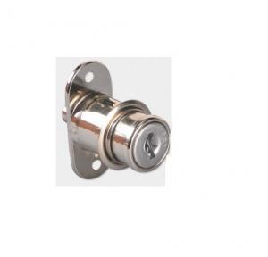Ebco Nickel Plated Push Lock, E-MPT1-22