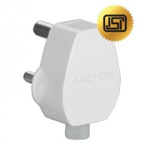 Anchor 6A 3 Pin Ivory Super Plug Top, 51348