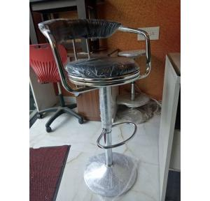 Bar Stool 500 X 500 Stainless Steel & Leather Cushion