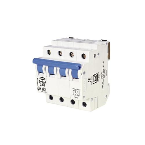 HPL 40A 4P C-Curve Rakshak Miniature Circuit Breaker (MCB )