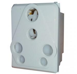 MK Wraparound 16A 5 Pin Socket, W27424 (Pack of 10 Pcs)