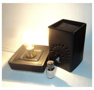 Pure Source Electric Aroma Diffuser Squire Black (Matte Finish) With 10 ml Relaxing Aroma Oil