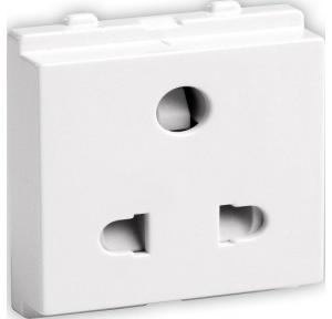 Schneider Opale 6A Uni Socket Outlet with Shutter, X2007WH