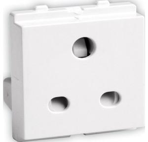 Schneider Opale Opale 6A 2/3 Pin Socket Outlet with Shutter, X2005WH