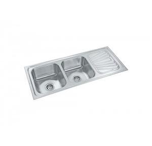 Parryware  48x20x8 In Double Bowl Kitchen Sink, C856071