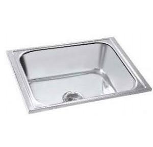 Parryware 24x18x8 In Single Bowl Kitchen Sink, C853599