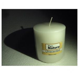Pure Source Pillar Candle Unscented White, PSI-CDL-PILAR