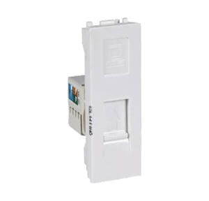 Legrand Mylinc 1M RJ45 Socket Cat 6 With Shutter, 6759 67