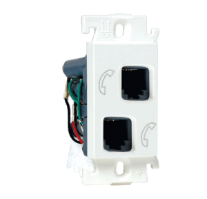 Legrand Mylinc 1M Double RJ 11 Telephone Socket, 6755 44