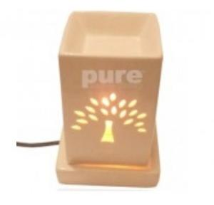 Pure Source 7 Inch Cermic Electric Square Arome Diffuser, PSI-EA- 02-SQ