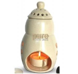 Pure Source 8 Inch Ceramic Burning Lamp from Tealight Candle, Premium Big