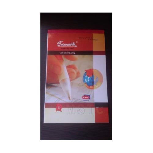 Saraswati Writing Pad No. 33, Size: 127x195 mm (80 Sheets)