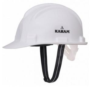 Karam PN501 White Safety Helmet With Plastic Sticker at Front And Back
