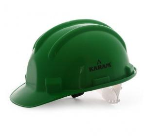 Karam PN501 Green Safety Helmet With Plastic Sticker at Front And Back