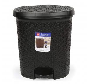 Cello Plastic Black Dustbin, 6 Ltr