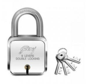 Godrej 4 Keys 7 Lever Square Padlock, 8153