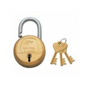 Godrej 3 keys 6 Lever Navtal Padlock, 3279
