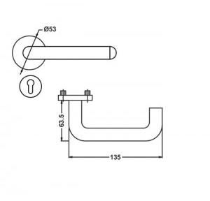 Dorma Door Handle Lever, XL-C 2001-D1