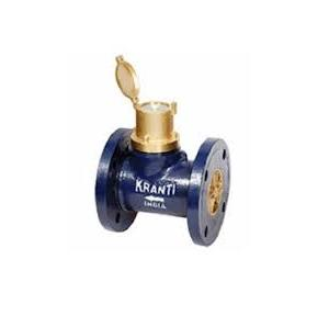 Kranti 65mm Bulk Enclosed Type Spiral Water Meter, IS 2373