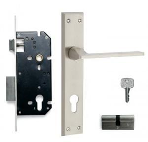 Godrej 240mm Door Handle Set With Lock Body 2C, 7558