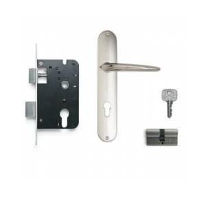 Godrej 200mm Door Handle Set With Lock Body 1CK, 8309