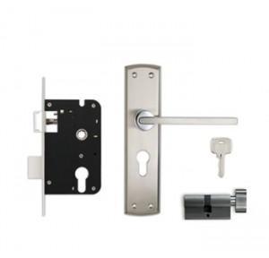 Godrej 200mm Door Handle Set With Lock Body 1CK, 8307