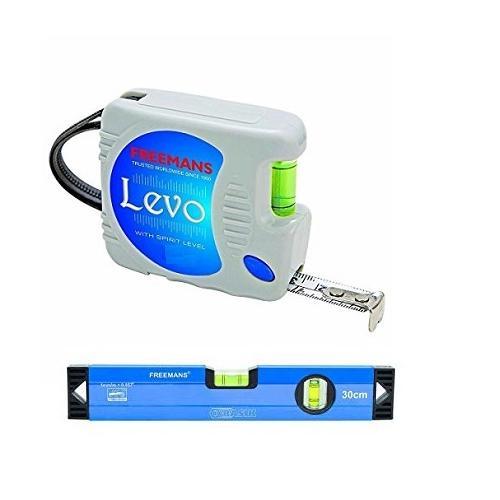 Freemans Levo 16mmx3m Measuring Tape With 30cm Basik Spirit Level