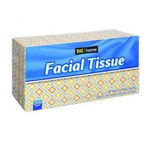 Dollar 2 Ply Facial Tissue, 100 Pulls