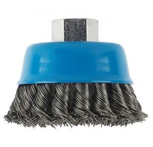 Bosch 100mm M14 Knotted Wire Cup Brush Heavy For Metal Wheel, 2 608 614 002
