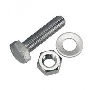 Stainless Steel 12mm Nut Bolt With 1 Inch Washer