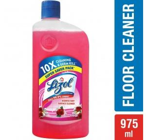Lizol Rose Disinfectant Surface Cleaner, 975ml