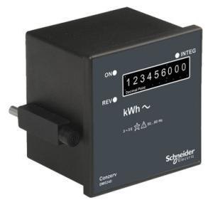 Schneider Conzerv 3 Phase 4 Wire Electronic Counter Type Energy Meter, DM5240