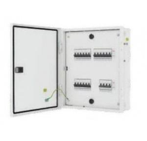 L&T 12 Way IP43 Metal Door TPN Distribution Board,  DBTPN012DD