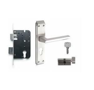 Godrej 240mm Door Handle Set With Lock Body 2C, 8166